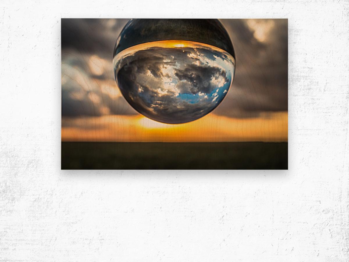 Lens Ball3 Wood print