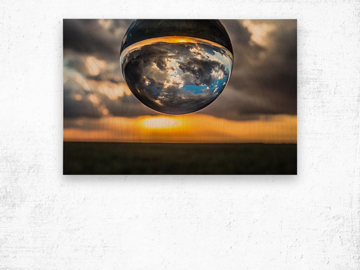 Lens Ball2 Wood print