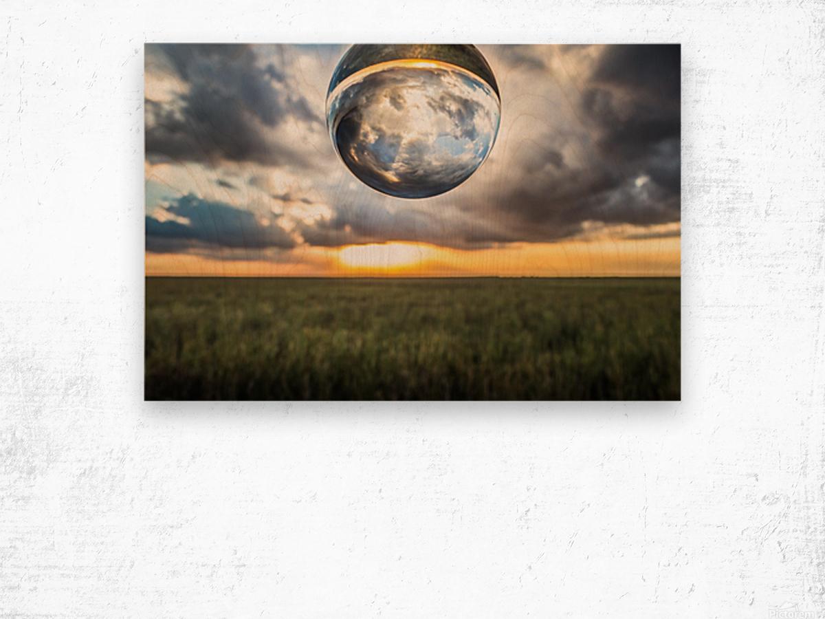 Lens Ball Wood print