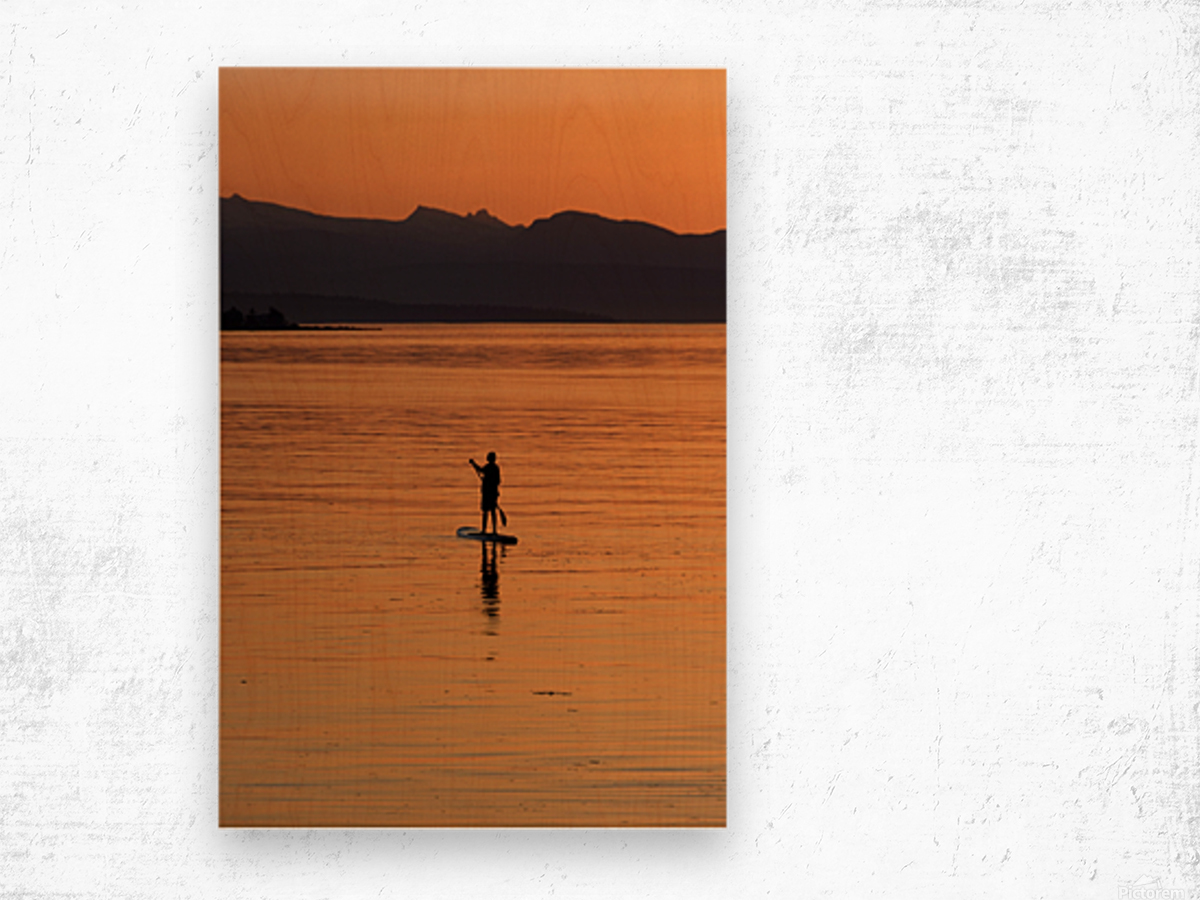The paddleboarder Wood print