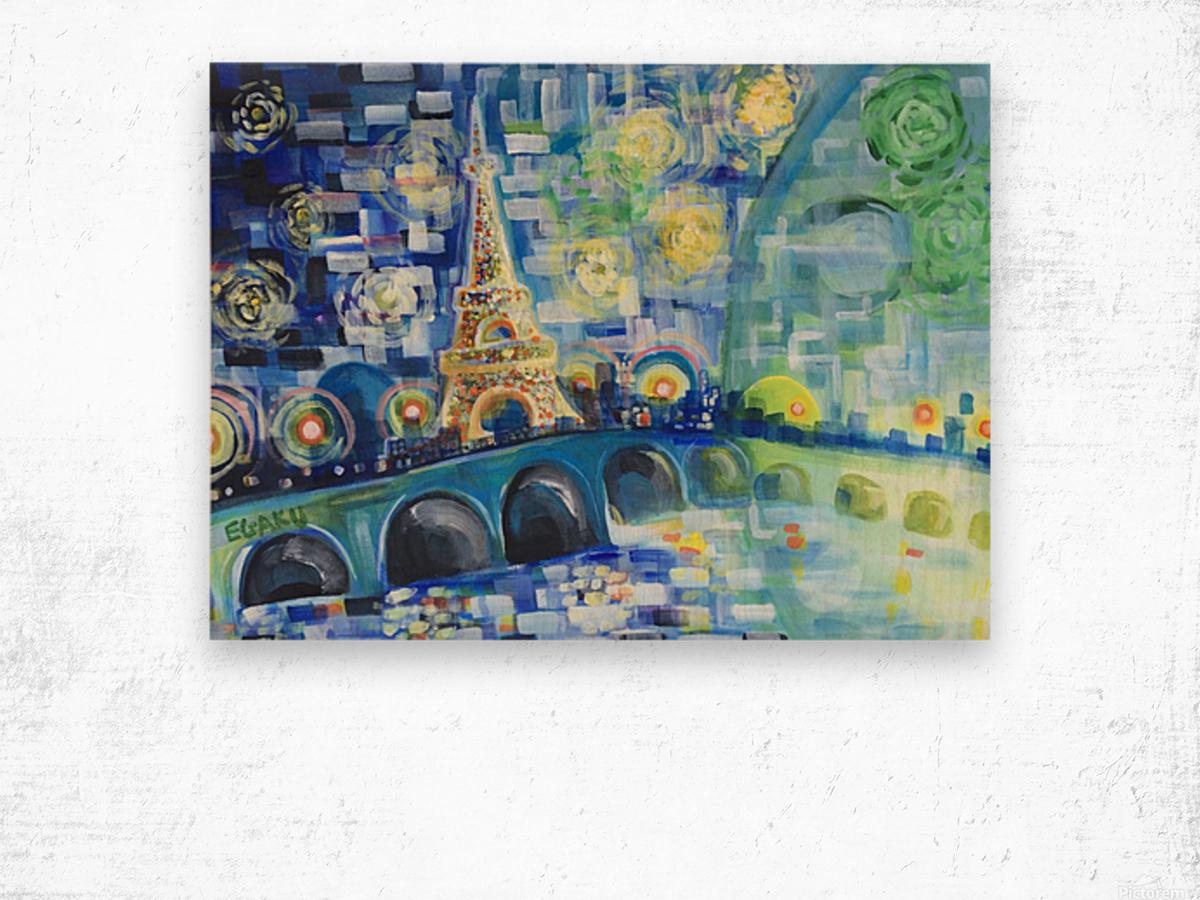 PARIS COLORS OF LOVE Wood print