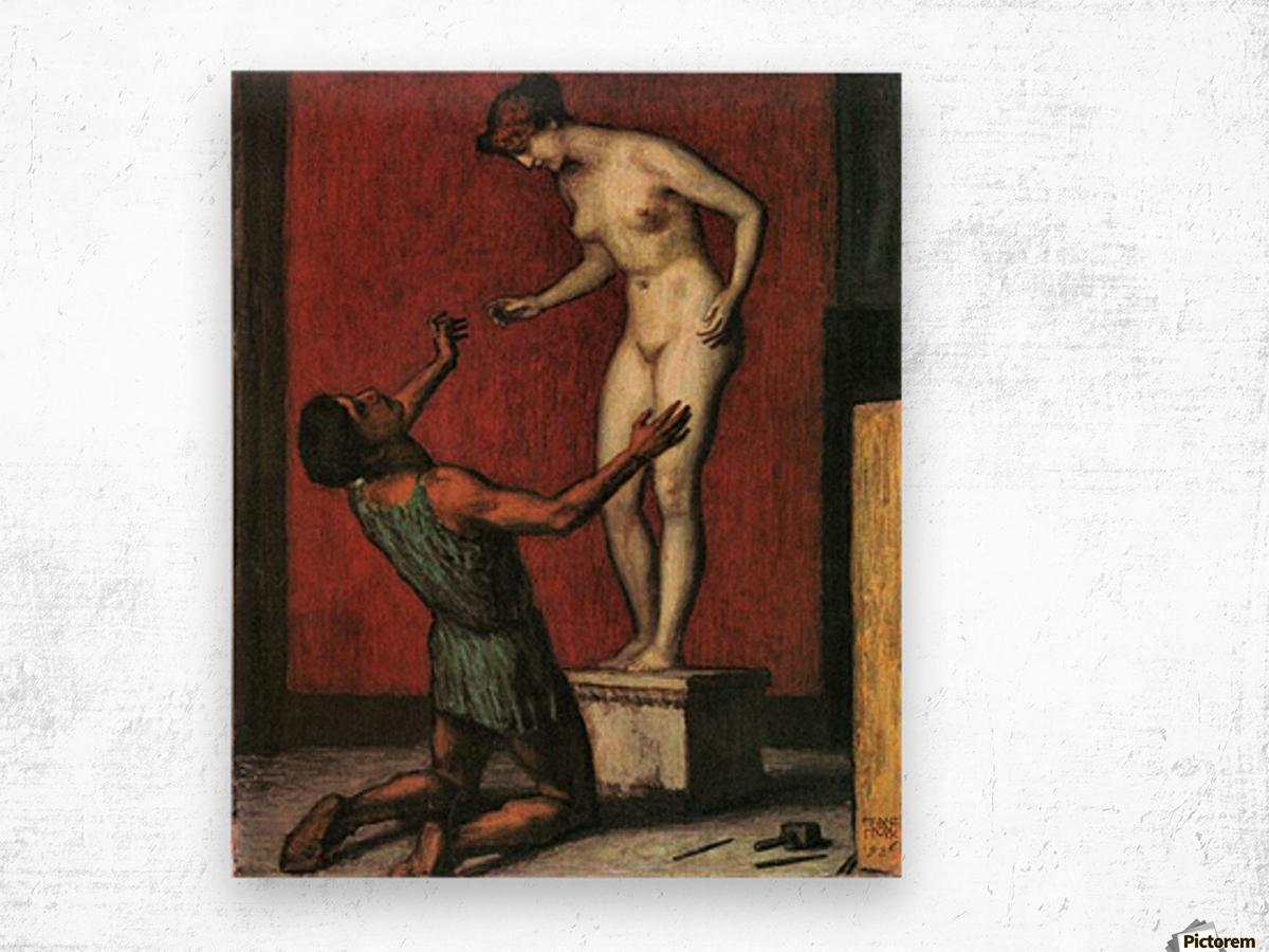 Pygmalion by Franz von Stuck Wood print