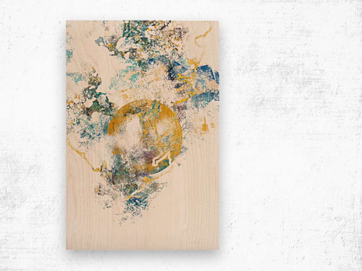 Natures Call - Abstract Painting III Wood print
