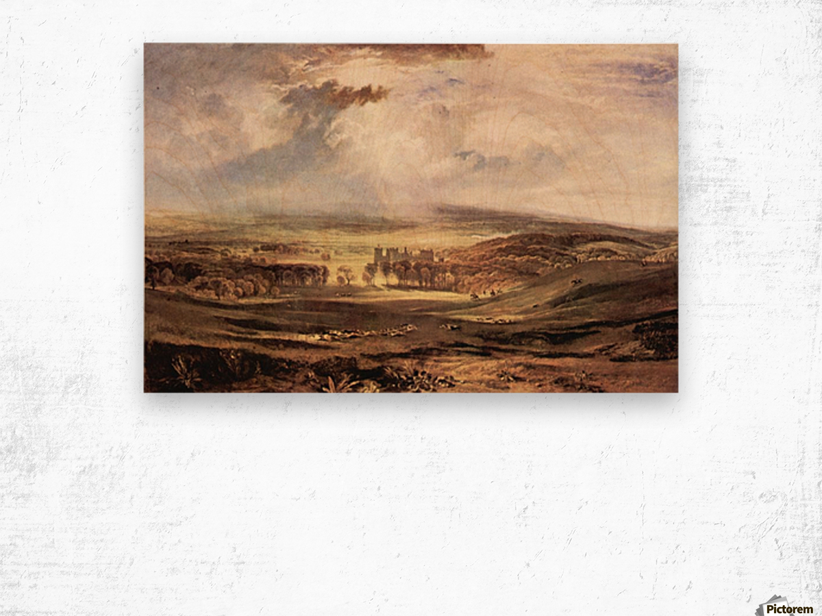 Raby Castle by Joseph Mallord Turner Wood print