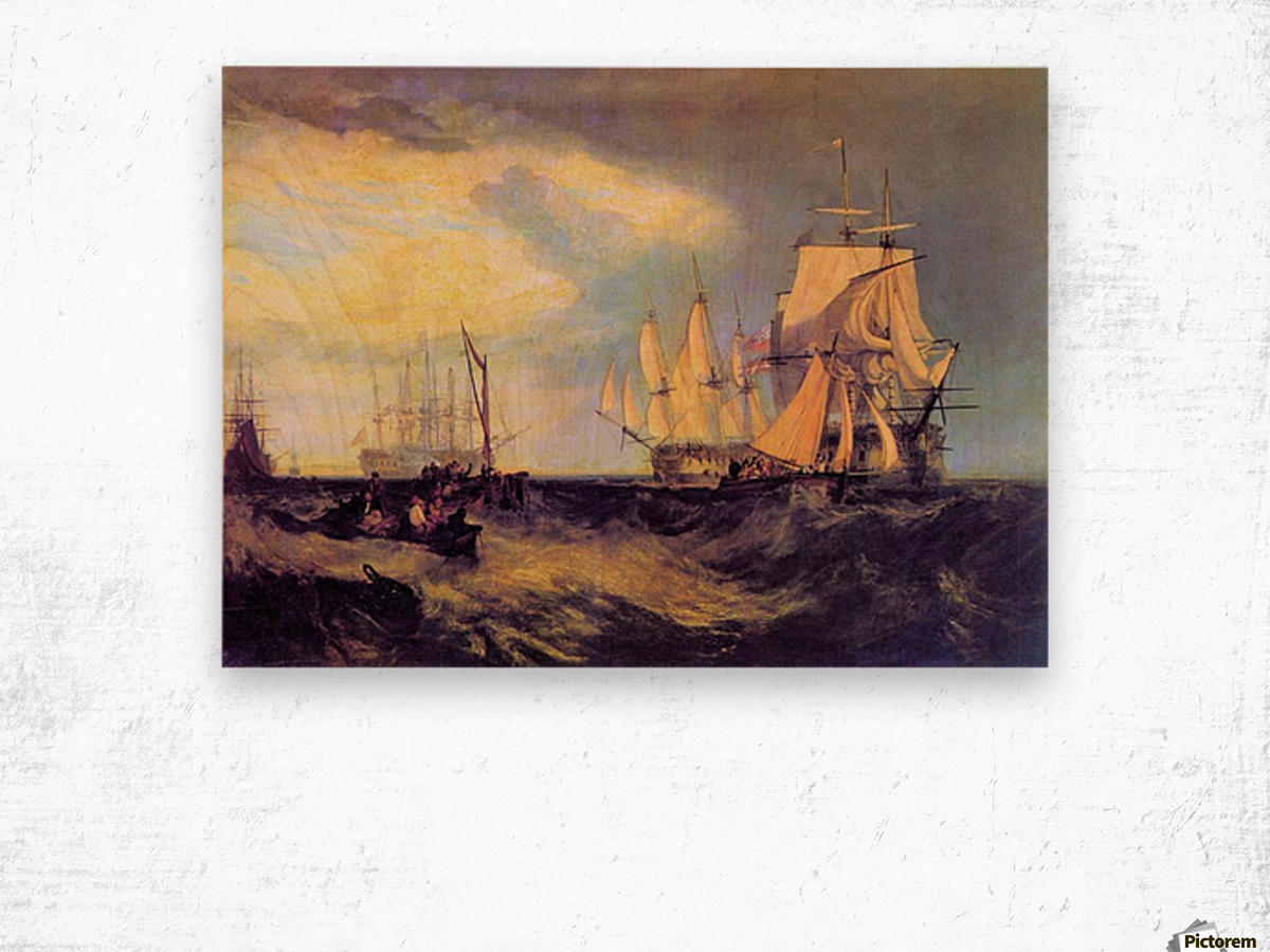 Recovering an anchor by Joseph Mallord Turner Wood print