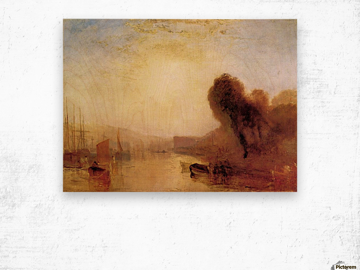 Regatta at Cowes Castle by Joseph Mallord Turner Wood print