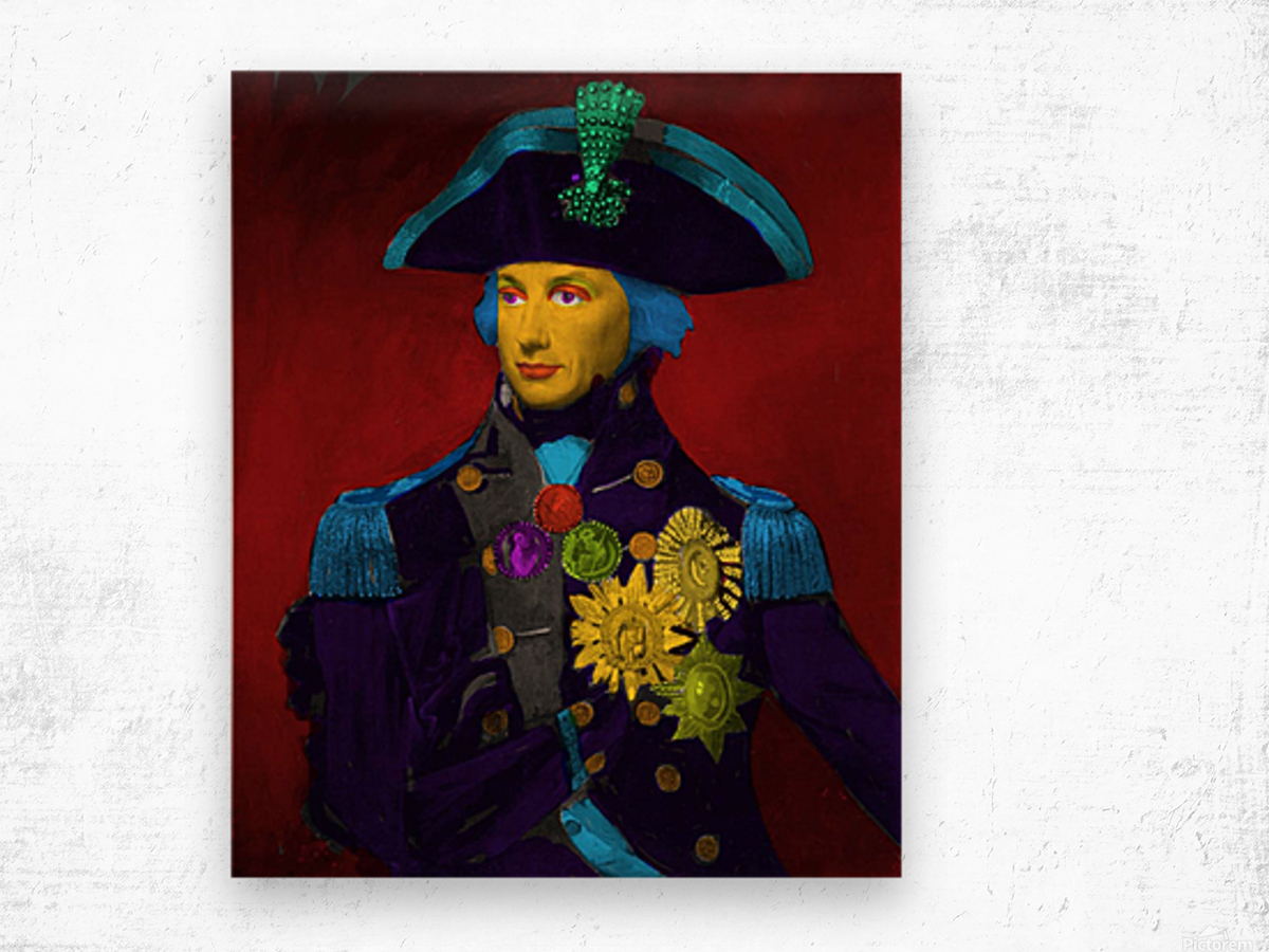Horatio Nelson Pop Art Wood print
