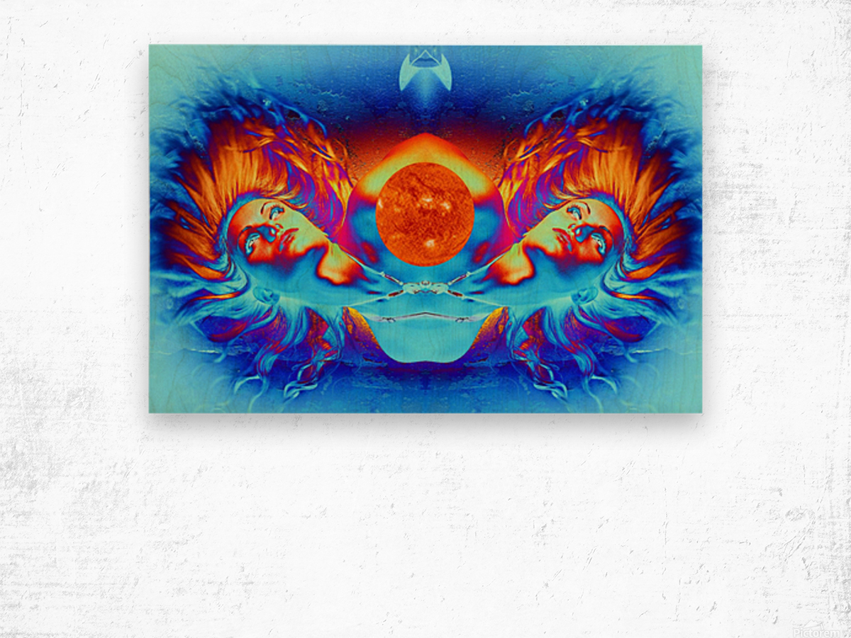 Escape from the Sun Wood print