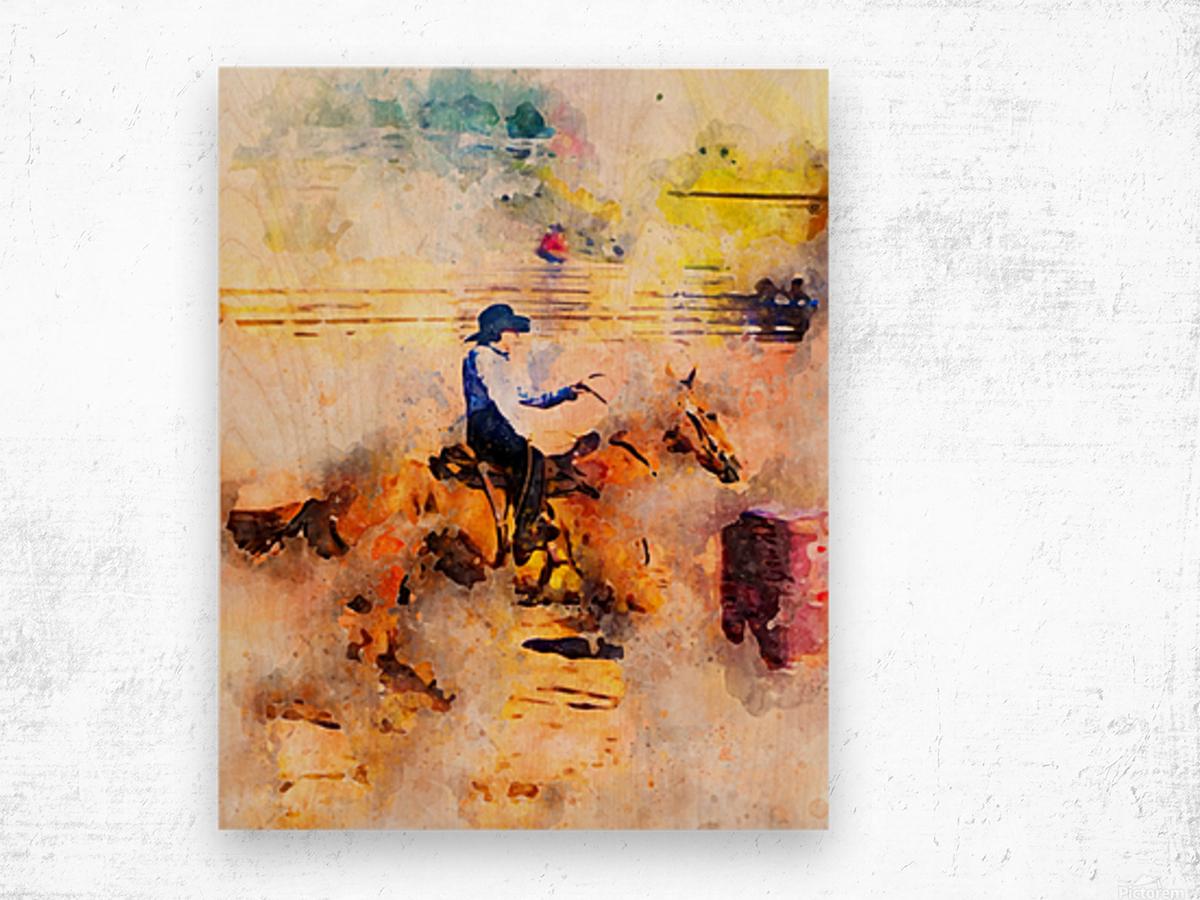 Rock Creek Rodeo Girl Wood print