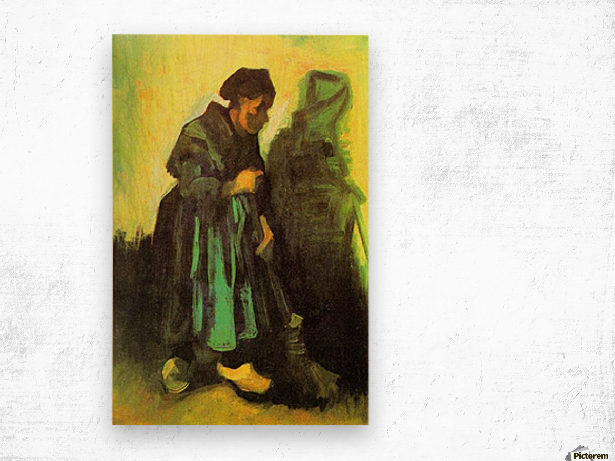 Return of the farmer by Van Gogh Wood print