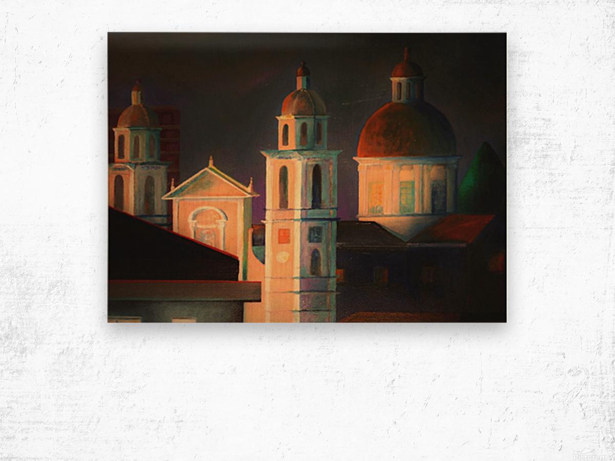 la basilica a Lavagna Wood print
