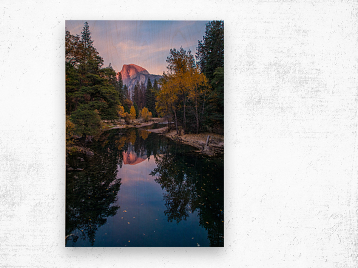 Half Dome in Autumn Wood print