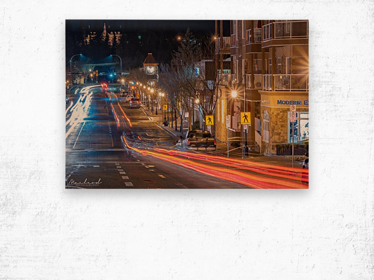 PerronSt_Trailights_DSC4885 Edit Wood print