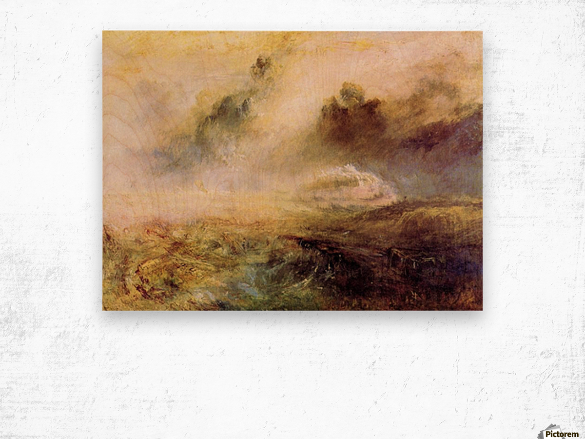 Rough Seas with wreckage by Joseph Mallord Turner Wood print