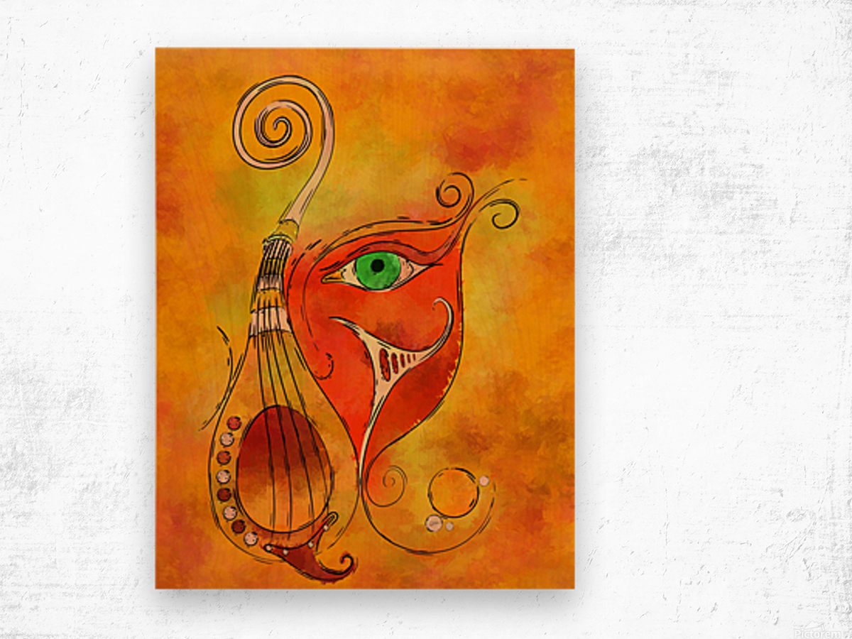 Masquerevue - beauty behind the instrumental mask Wood print