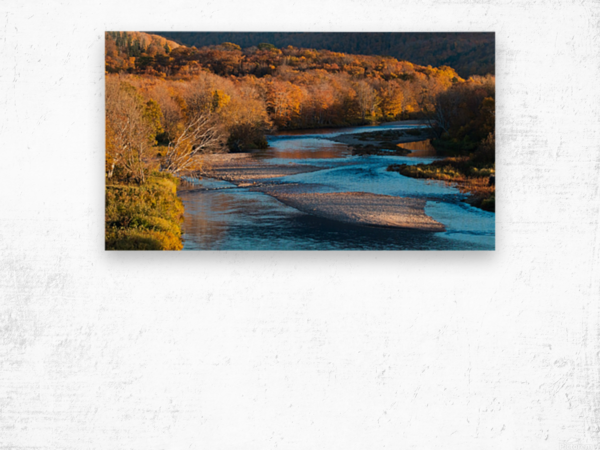 Cheticamp river Cape Breton highland national park Wood print