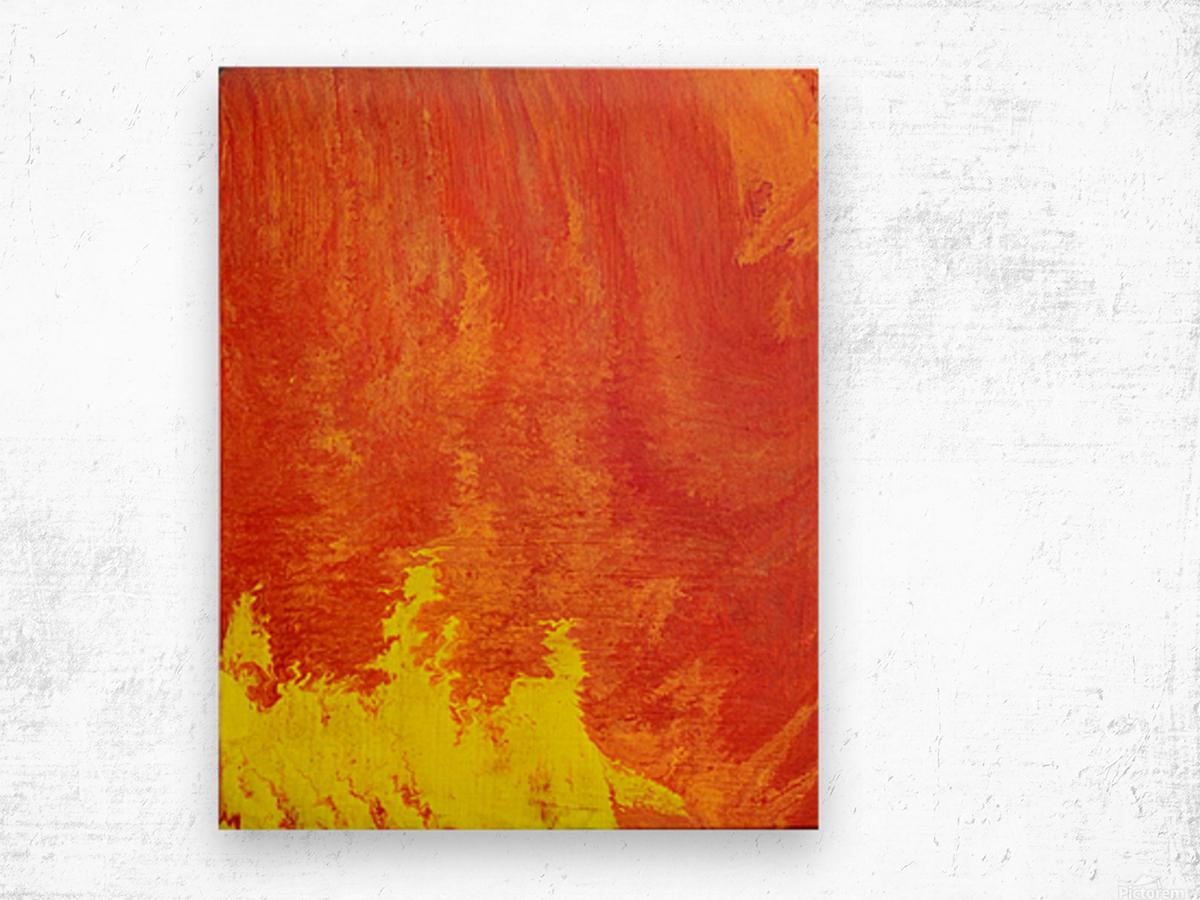 Fire in the Sky. Tala S Wood print