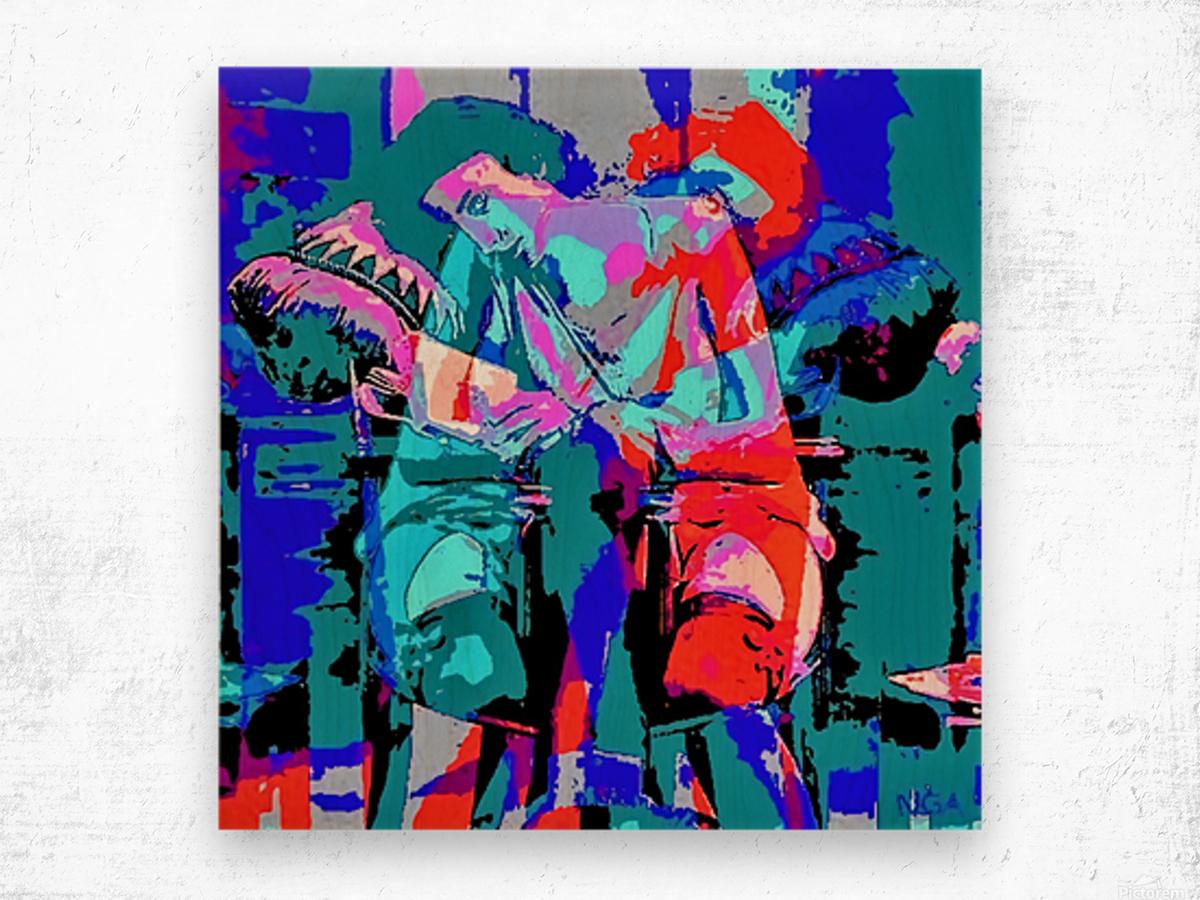 Best Friends - by Neil Gairn Adams Wood print