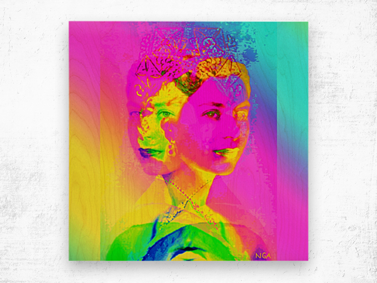 Royalty -  Queen Elizabeth by Neil Gairn Adams Wood print