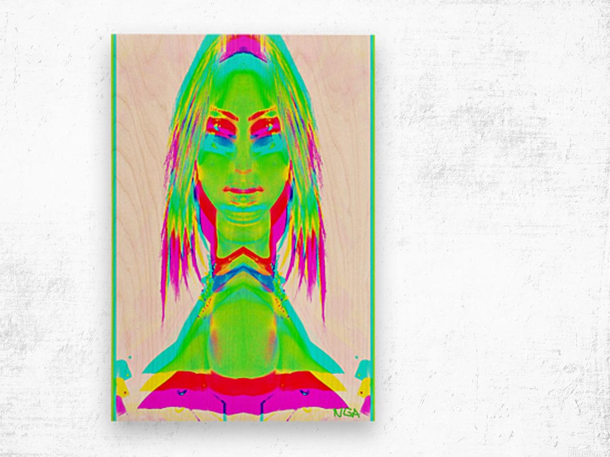 Lady in Green 2 -  by Neil Gairn Adams Wood print