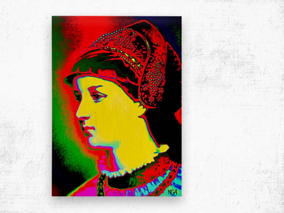 The Lady - by Neil Gairn Adams Wood print
