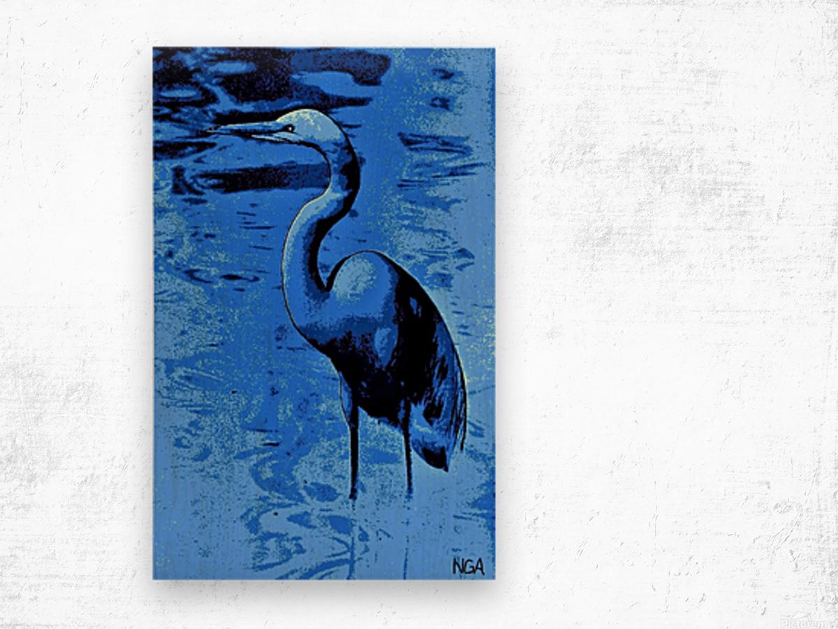 Bird in the Water -  by Neil Gairn Adams Wood print