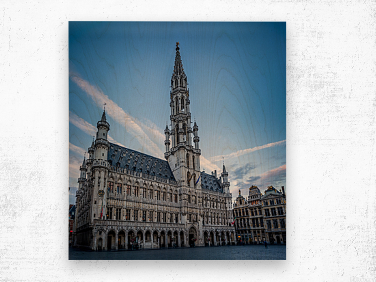 Town Hall in the Grand Place - Belgium Wood print
