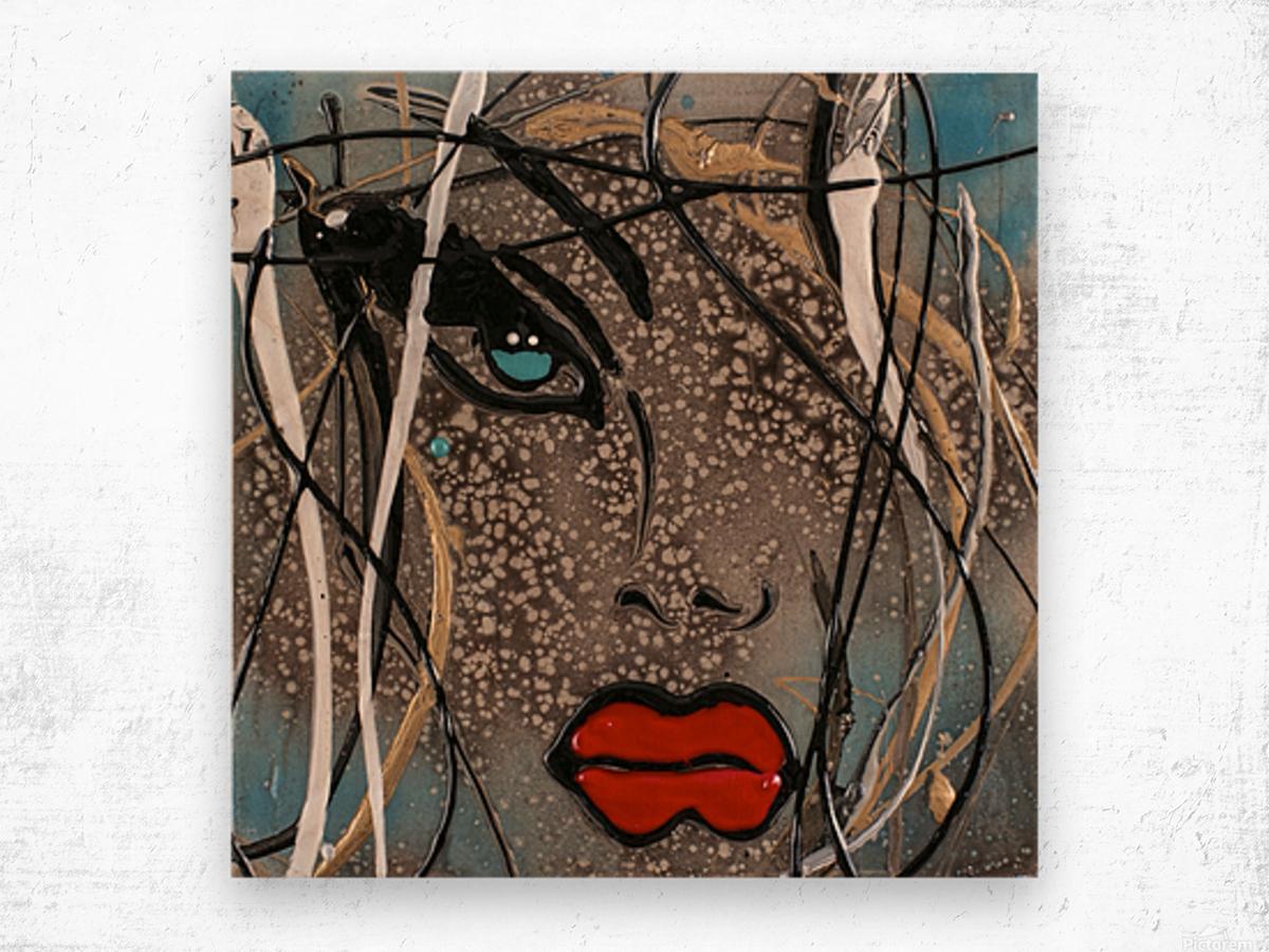3094 - OD steal bleu Wood print