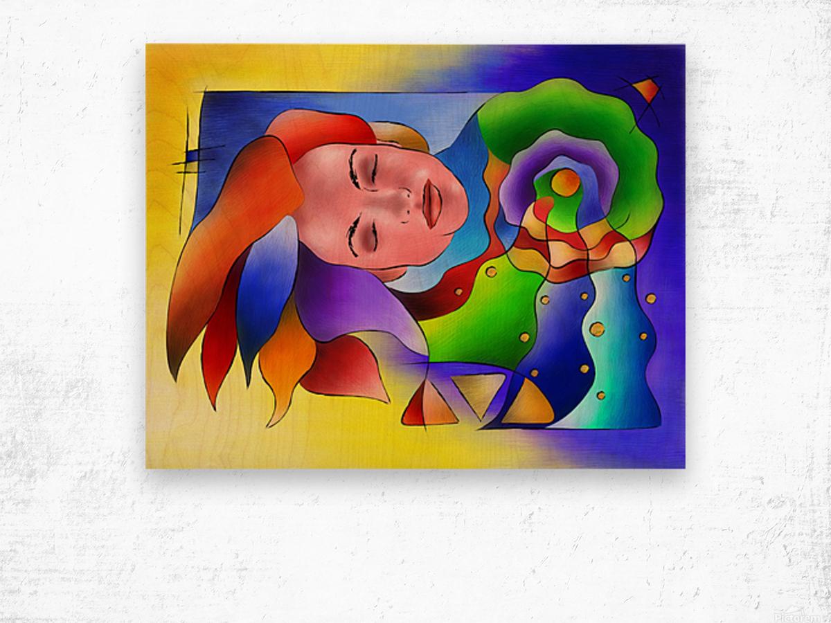 Fasettonia - colourful spirit Wood print