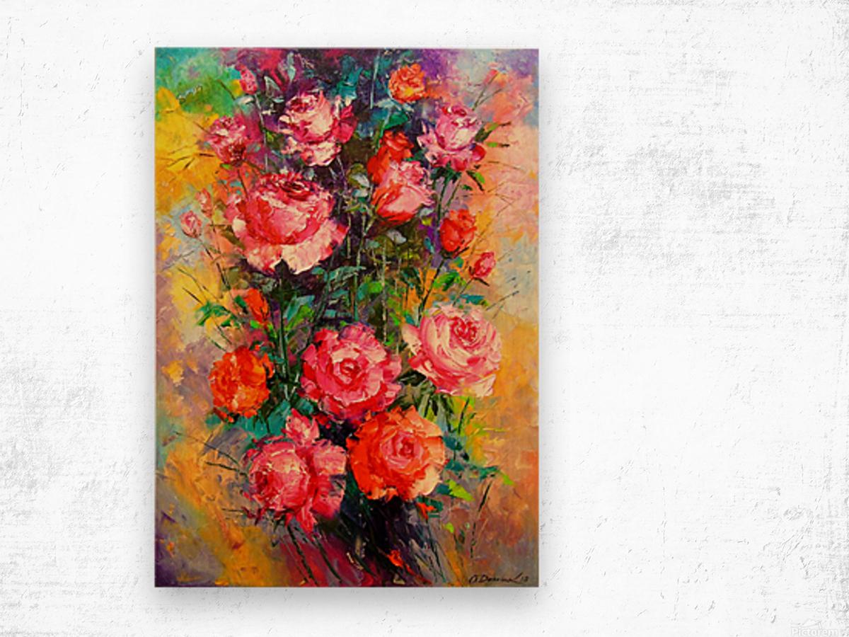 Roses Wood print