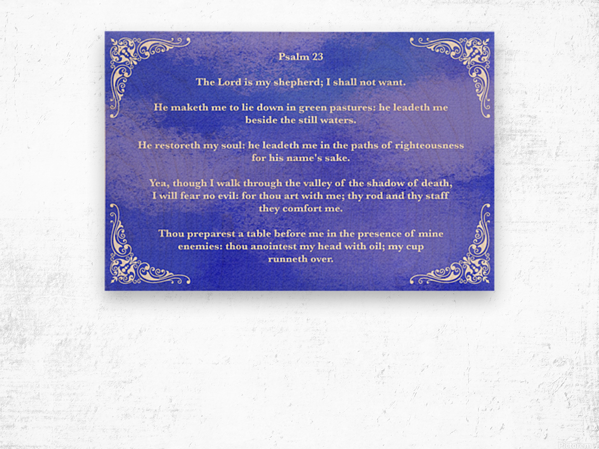 Psalm 23 5BL_1547777682.49 Wood print