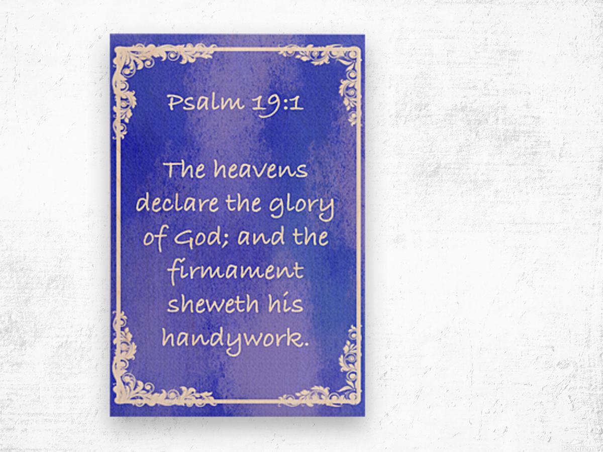 Psalm 19 1 8BL Wood print