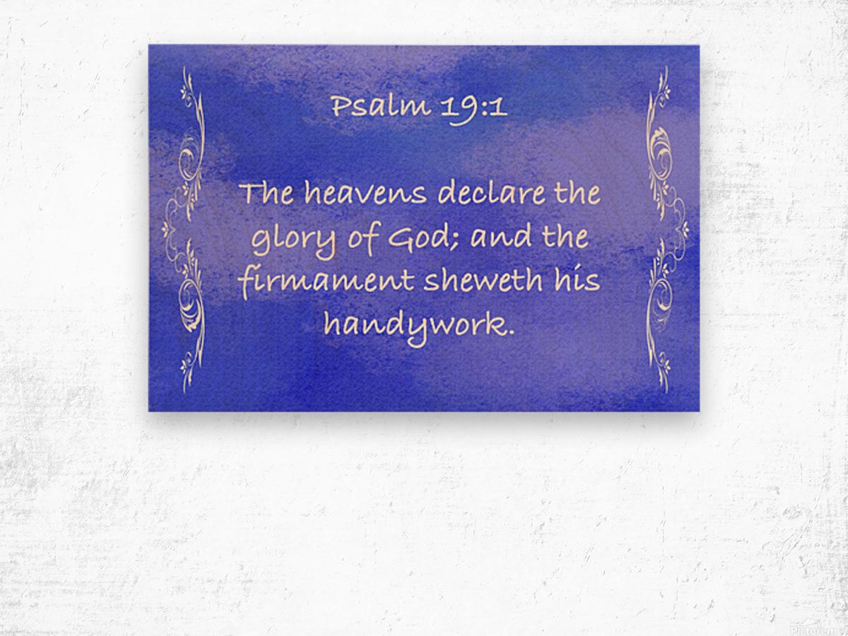 Psalm 19 1 4BL Wood print