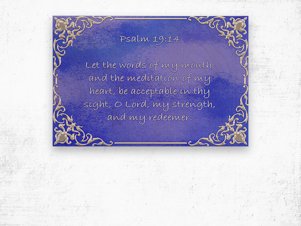 Psalm 19 14 1BL Wood print