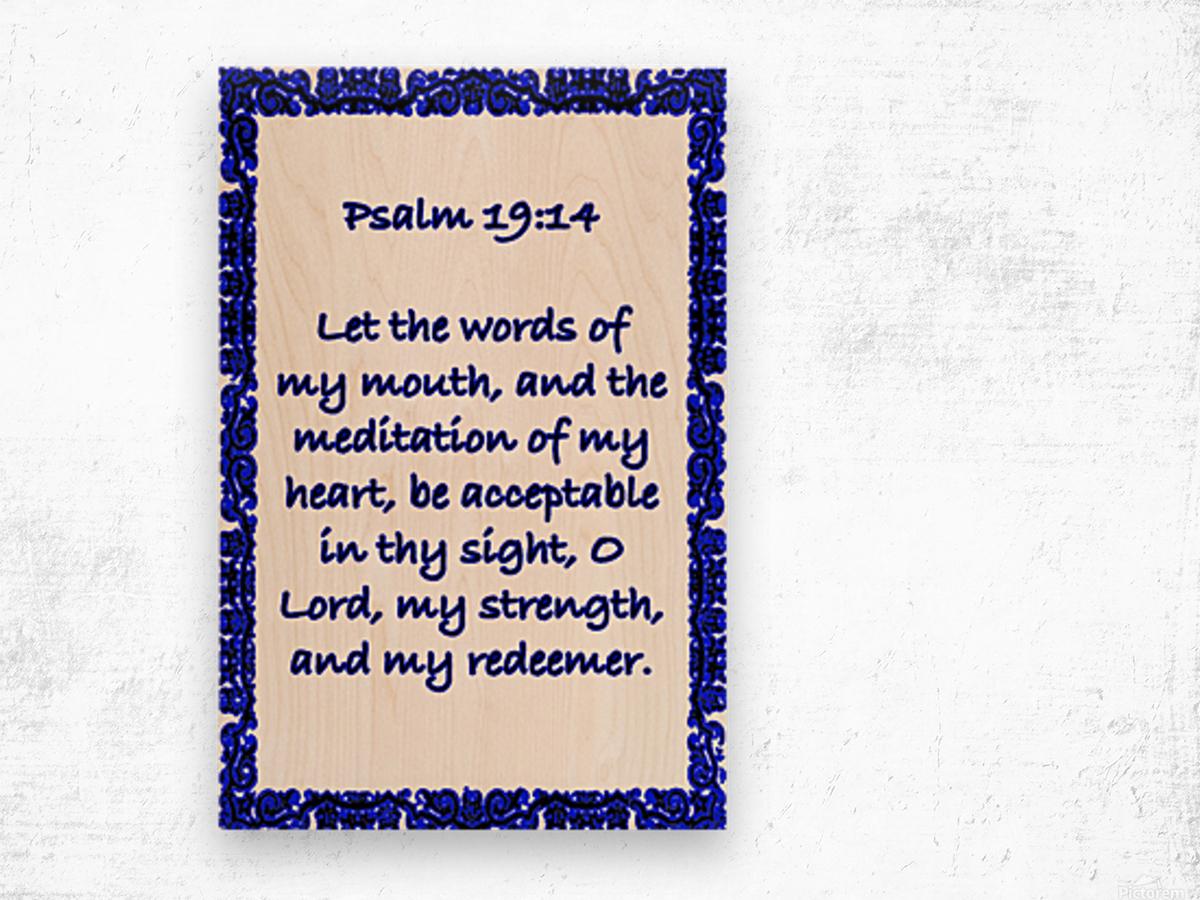 Psalm 19 14 10WBL Wood print