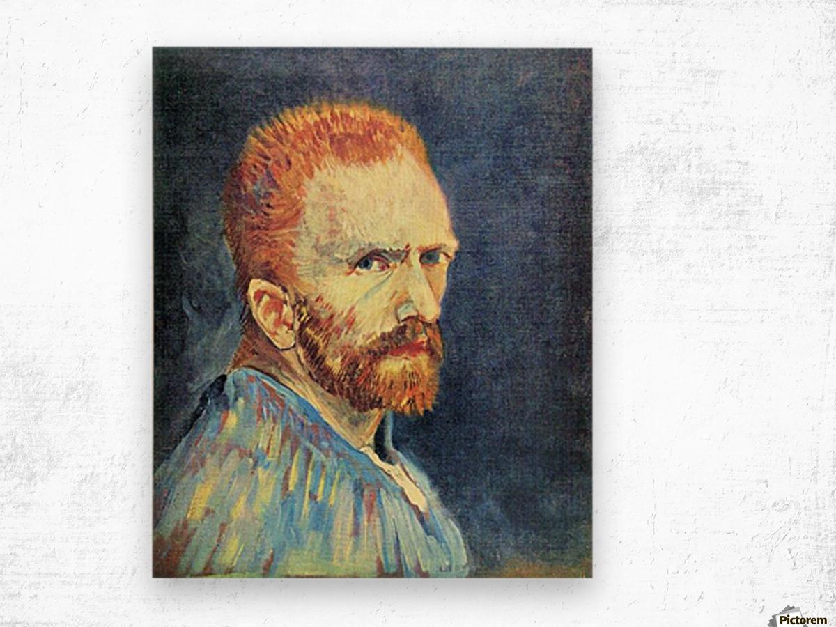 Self-Portrait with short hair by Van Gogh Wood print
