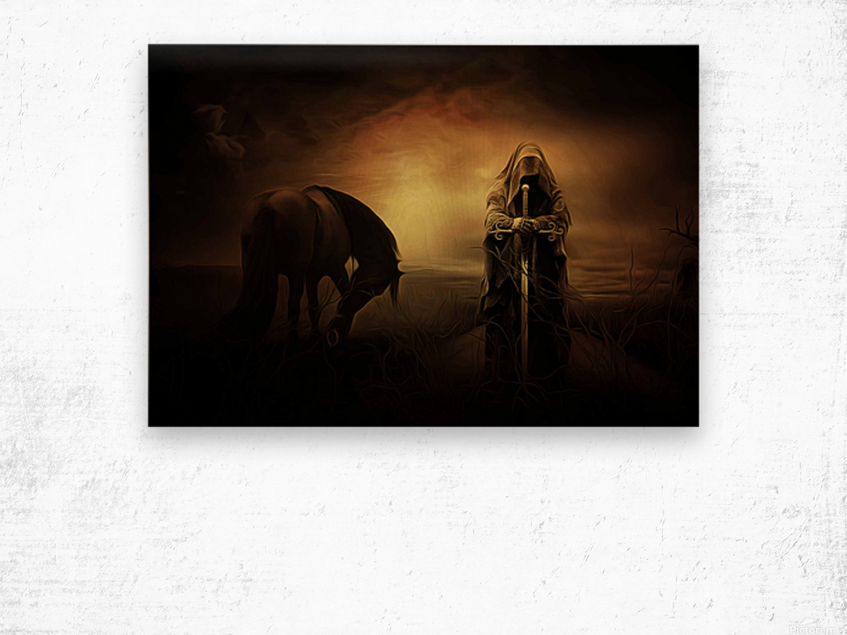 knight with light Wood print