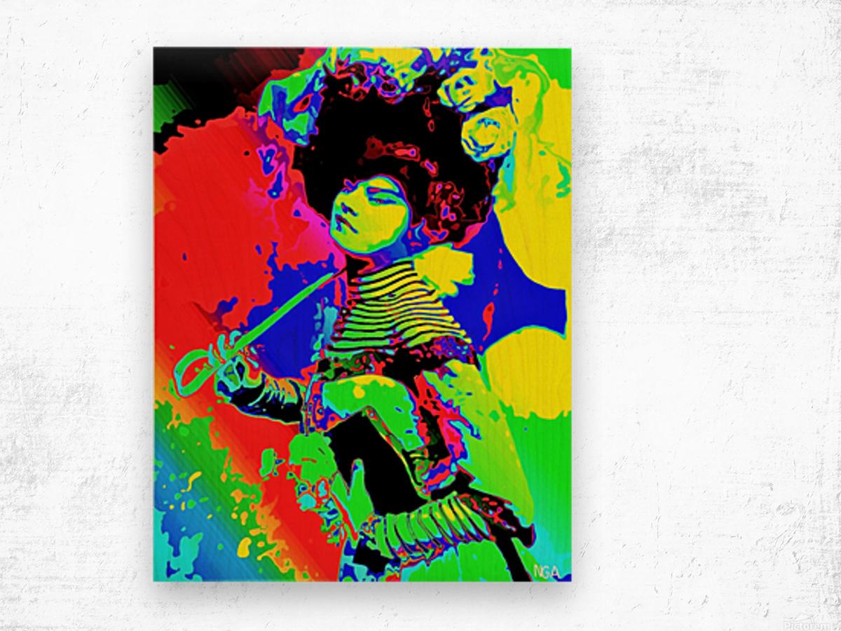 Lady with Parasol - by Neil Gairn Adams  Wood print