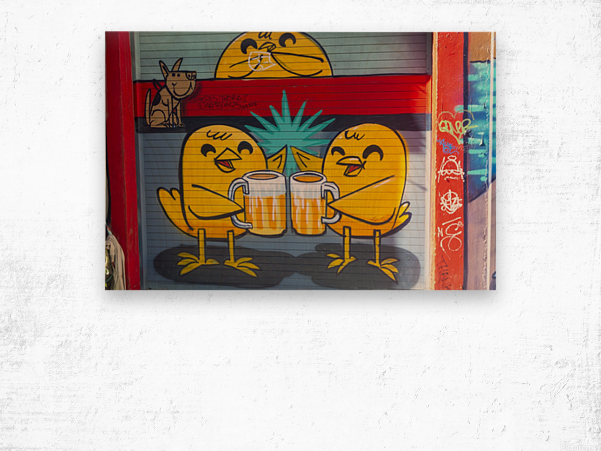 Torontos Graffiti Alley  61 Wood print