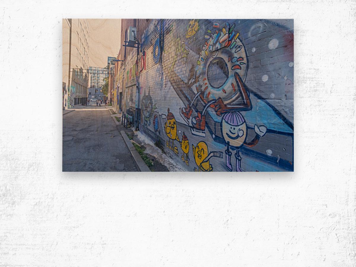 Torontos Graffiti Alley 50 Wood print