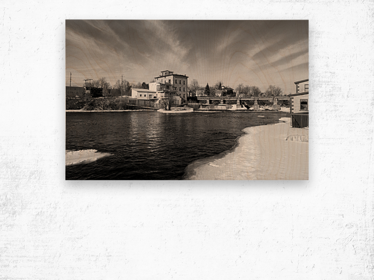 Almonte Spring 1 b&w Wood print