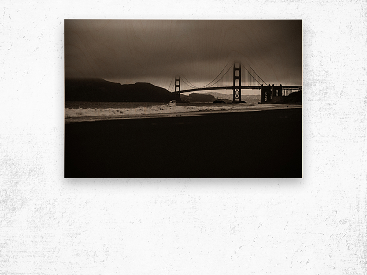 B&W Golden Gate Impression sur bois