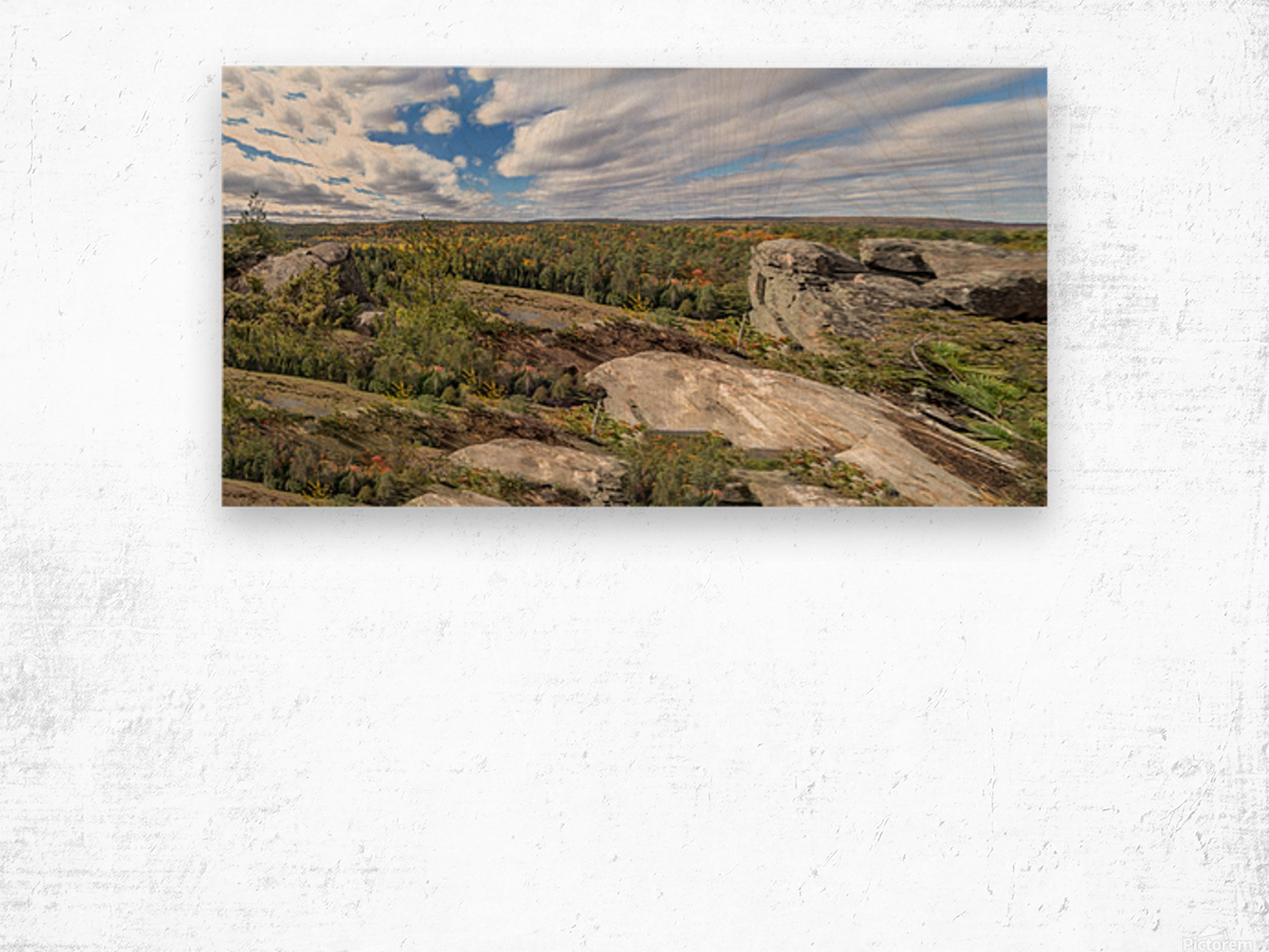 Eagles  Nest Panorama 3a Wood print