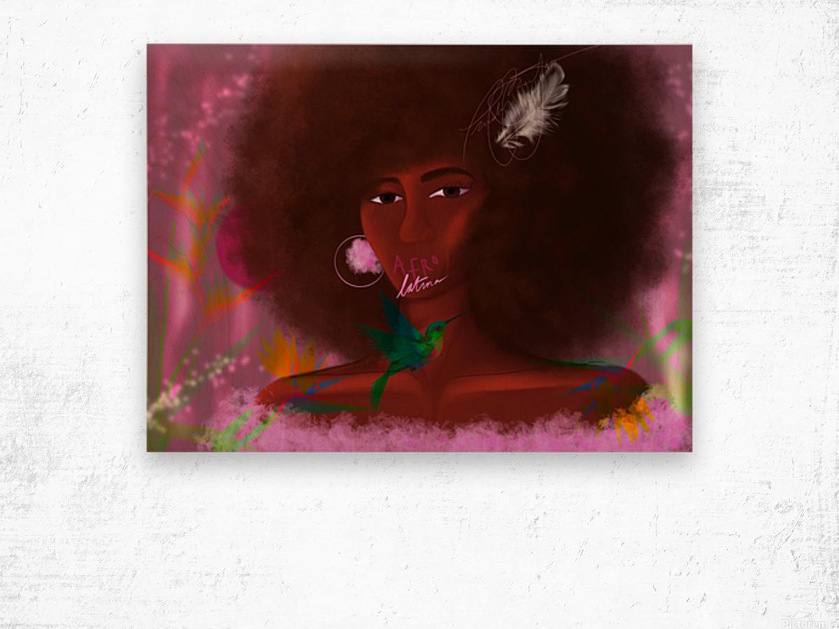 Afro Latina Wood print