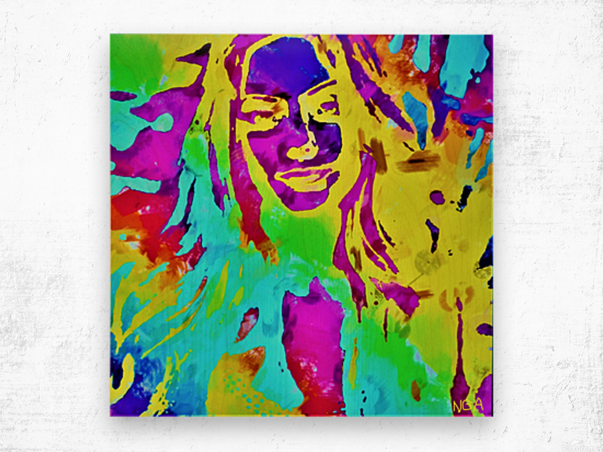 Abstract Girl - by Neil Gairn Adams Wood print