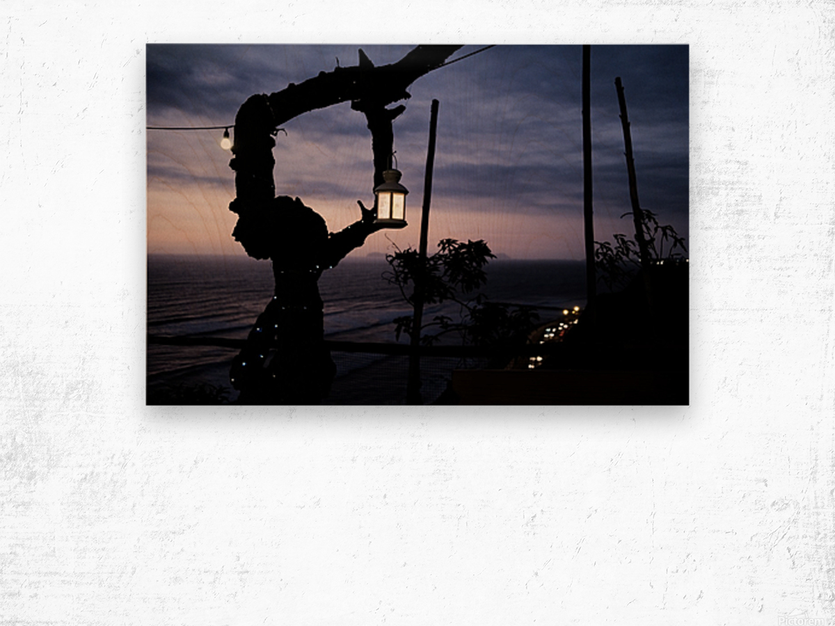 Lanterne de Lima Impression sur bois