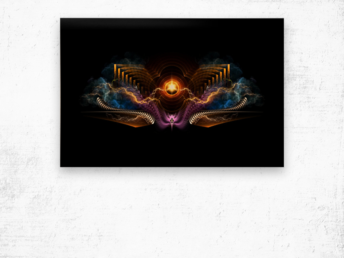 Treasure Of Night Fractal Art Wood print