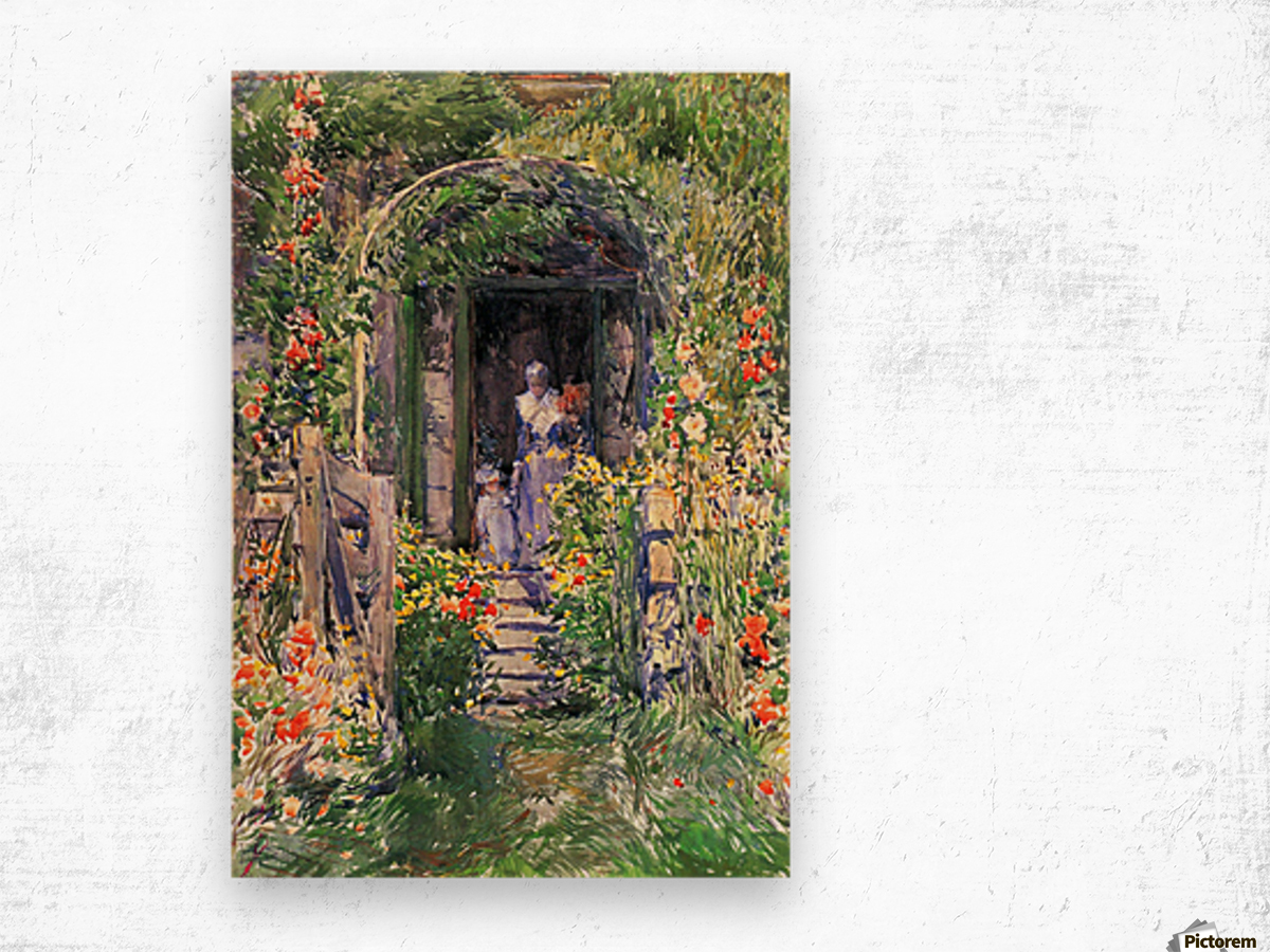 Isles of Shoals Garden by Hassam Wood print