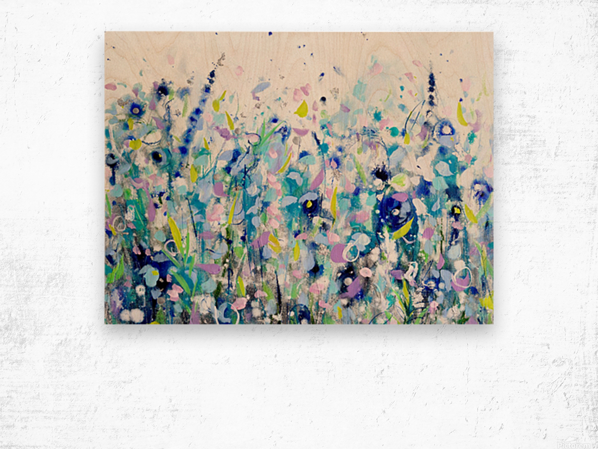 Ultramarine Meadow Wood print