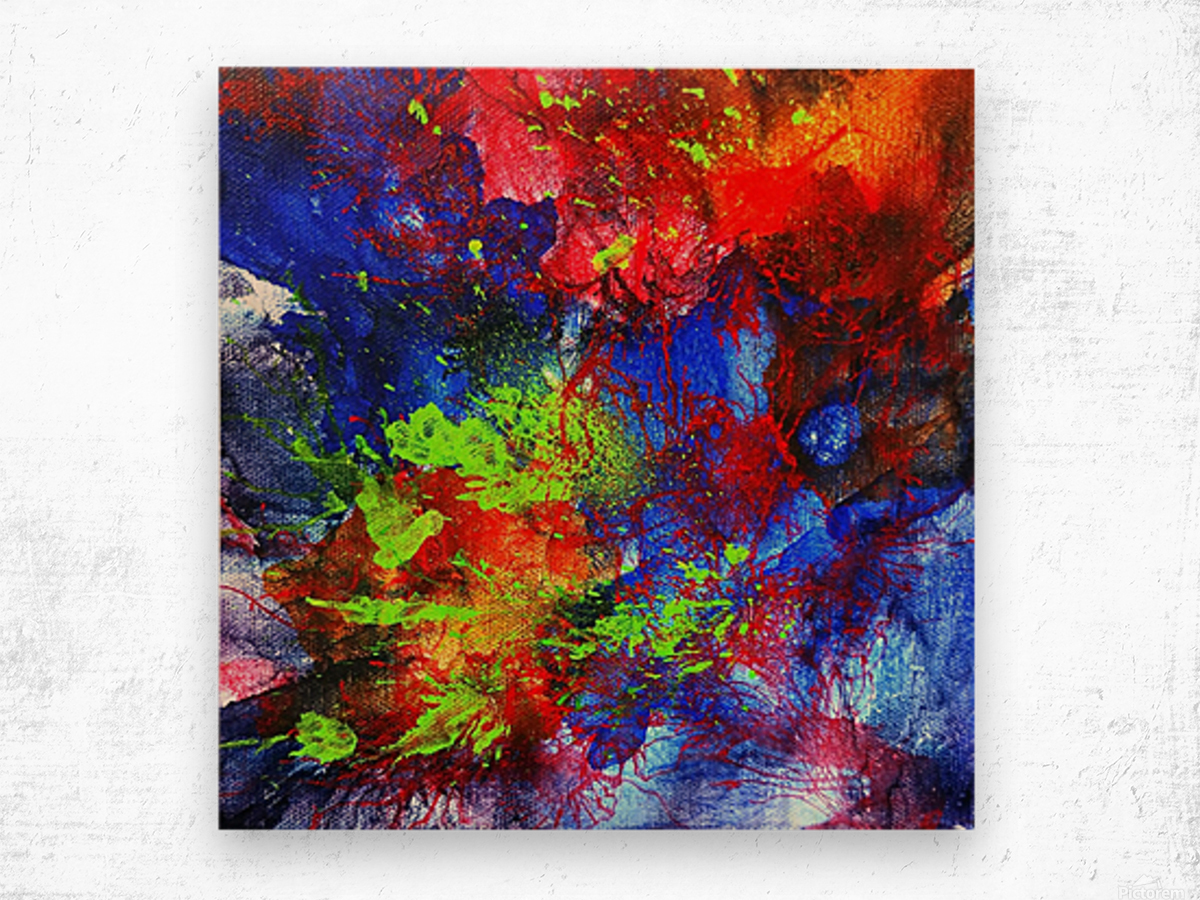 Color Explosion Wood print